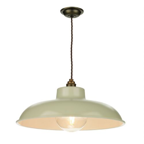Metro 1 Light Pendant French Cream (Hand made, 7-10 day Delivery)